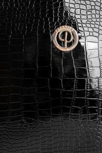 Prestige Fekete Krokodil Mintás Női Műbőr Válltáska