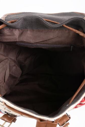 R&J Sötétkék 2 Bagoly Mintás Nagyméretű Textil Hátizsák