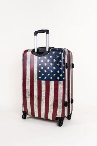 USA Zászló Mintás Ormi Kemény Bőrönd Szett