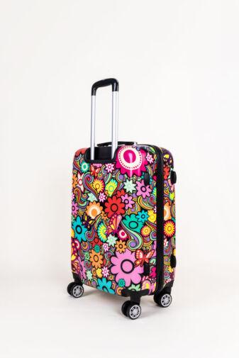 Színes Virág Mintás Ormi Közepes Méretű Kemény Bőrönd (66x 45x 26  cm)