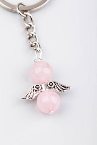 Angyalszárny Rózsaszín Strasszkövekkel Kulcstartó és Táskadísz