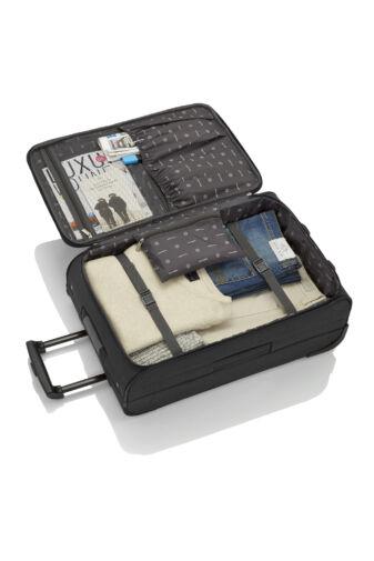 Travelite Orlando Fekete Gurulós Nagy Méretű Két Kerekű Bőrönd