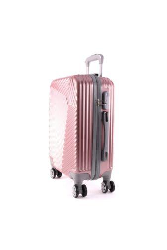 LC-015 rózsaarany közepes méretű PVC bőrönd (69*45*26 cm)