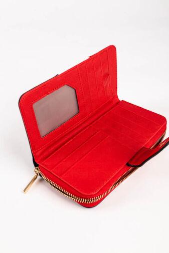 R&J Piros Fehér Kék Trikolor Nagyméretű Női Pénztárca