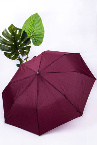 Bordó Összecsukható Automata Esernyő, 90 cm Átmérővel