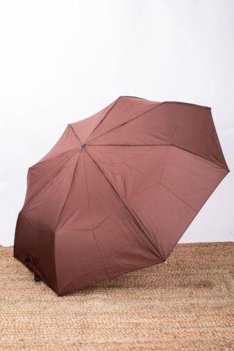 Barna Összecsukható Automata Esernyő, 96 cm Átmérővel