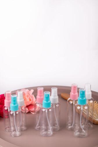 Világoskék Kis Méretű Utazó Spray Flakon - 12 x 3,2 cm