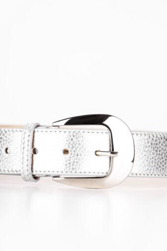 Prestige Ezüst Színű Valódi Bőr Öv, 110 cm