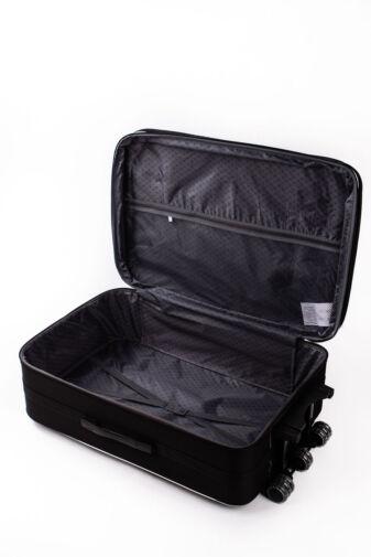 Nagy Méretű Fekete Puha Falú Bőrönd