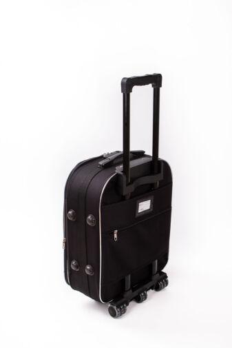 Kisméretű Fekete Puha Falú Bőrönd