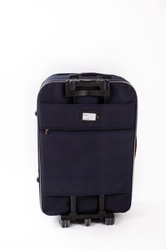 Nagy Méretű Kék Puha Falú Bőrönd