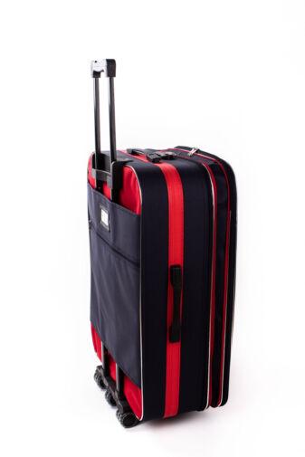 Nagy Méretű Kék-Piros Puha Falú Bőrönd
