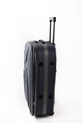 Nagy Méretű Szürke Puha Falú Bőrönd