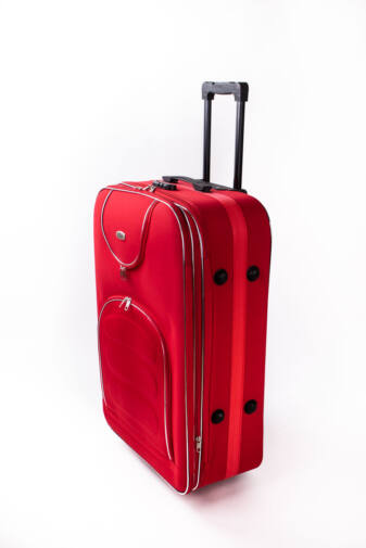 Nagy Méretű Piros Puha Falú Bőrönd