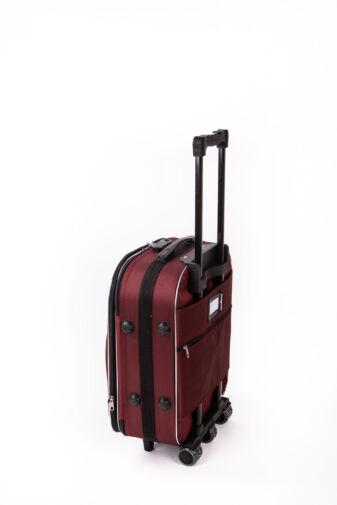 Nagy Méretű Bordó Puha Falú Bőrönd