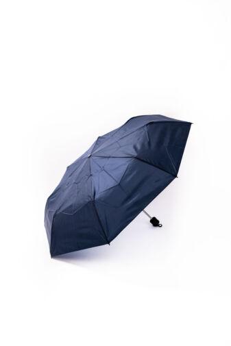Sötétkék Kis Méretű Összecsukható Automata Esernyő, 95 cm Átmérővel