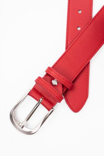 Prestige Piros Valódi Bőr Öv, 105 cm