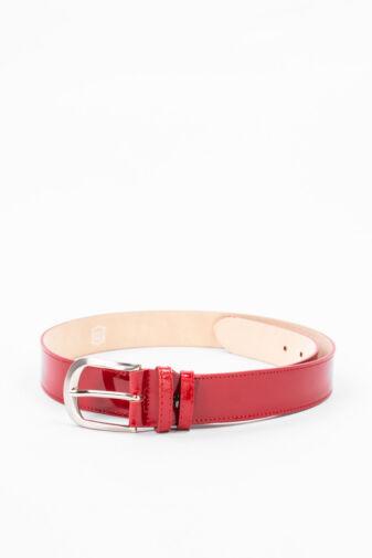 Prestige Piros Lakk Valódi Bőr Öv, 105 cm