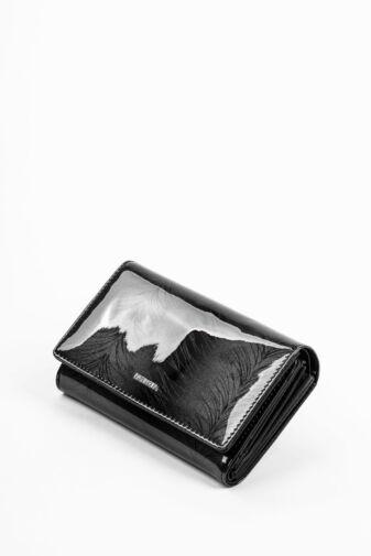 Patrizia Piu Fekete Színű Valódi Bőr Lakk Női pénztárca