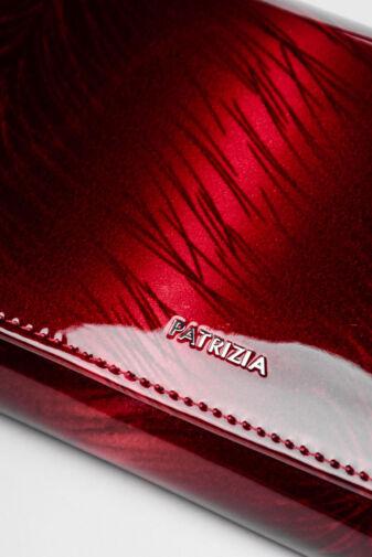 Patrizia Piu Piros Valódi Bőr Lakk Női pénztárca