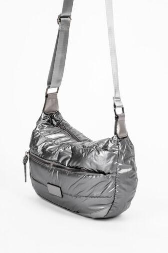 Ezüst Színű Női PVC Anyagú Vízhatlan Oldaltáska