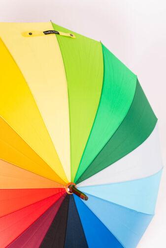 Szivárványos, Többszínű Bot Esernyő, 119 cm Átmérővel