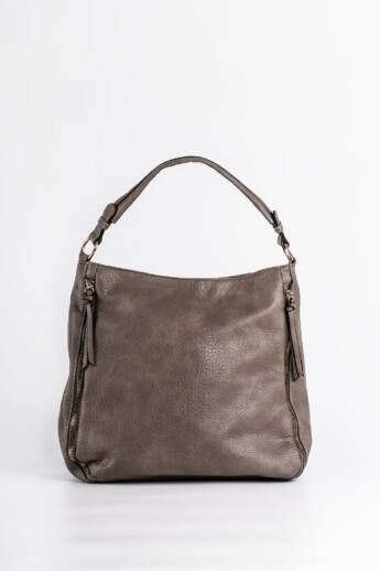 Nyomott mintás női válltáska barna Női táska és