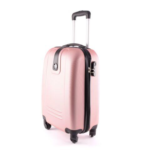 Leonardo Da Vinci rózsaarany műanyag kabin Bőrönd (55*35*22 cm)