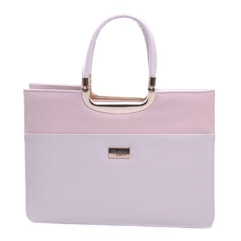 Prestige Női Műbőr-Velúr Kézitáska Rózsaszín