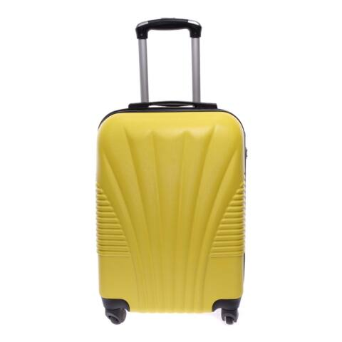 Besty Kemény Nagy Bőrönd sárga (4 Kerekű)