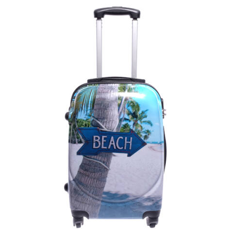 BESTY Strand Mintás Wizzair, Ryanair Méretű Kabinbőrönd(53*36*20cm)