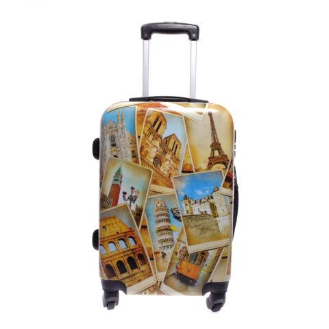 Ormi Europetravel Mintás Kemény Kabin Bőrönd