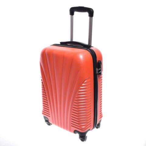 Besty Kemény Mini Bőrőnd Neon Narancssárga (4 Kerekű)