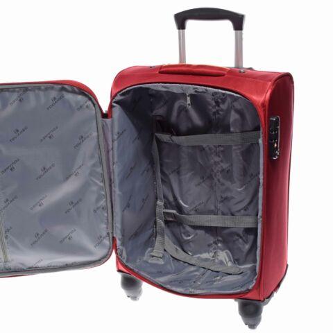 14N121 Piros Touareg  puha Bőrönd Szett