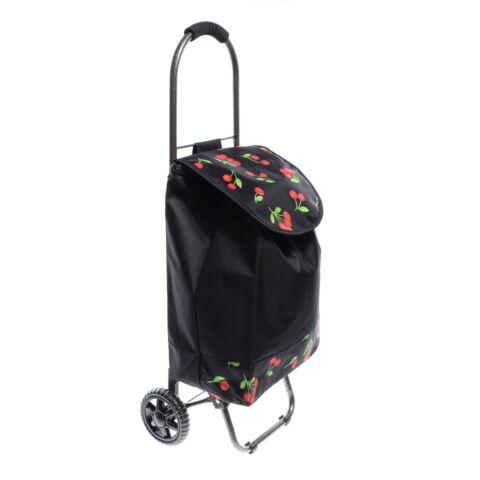 Cseresznye Mintás Pöttyös,Fekete Kerekes Bevásárlókocsi