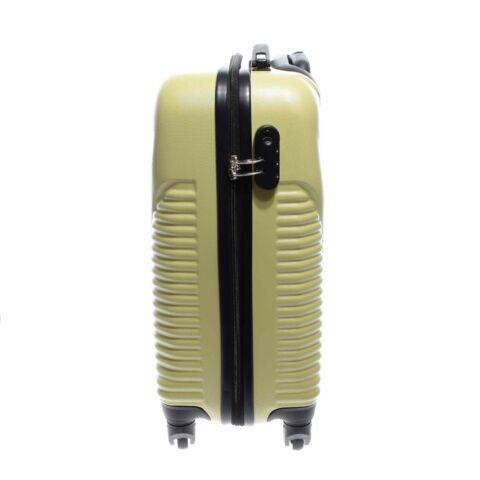 Besty Kemény  Bőrönd Szett Halványsárga (4 Kerekű)