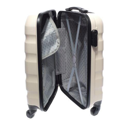 LDV Bézs Hullámnyomott ABS Kabinbőrönd (55*37*20 cm)