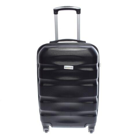 LDV Fekete Hullámnyomott ABS Kabinbőrönd (55*37*20 cm)