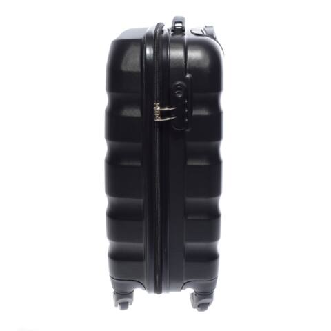 Leonardo Da Vinci Fekete Hullámnyomott ABS Nagy Bőrönd