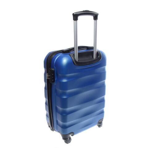 LDV Kék Hullámnyomott ABS Kabinbőrönd (55*37*20 cm)