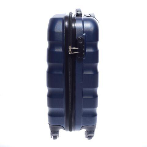 Leonardo Da Vinci Sötétkék Hullámnyomott ABS Bőrönd Szett