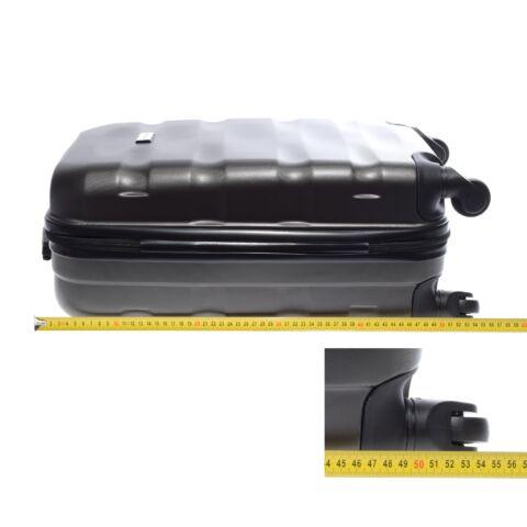 LDV Sötétszürke Hullámnyomott ABS Kabinbőrönd (55*37*20 cm)