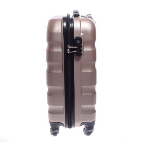 LDV Rózsaarany Hullámnyomott ABS kabin Bőrönd (55*37*20 cm)