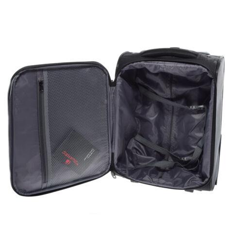 Touareg Wizzair Kézipoggyász Méretű Fekete Bőrönd (40*31*19cm)