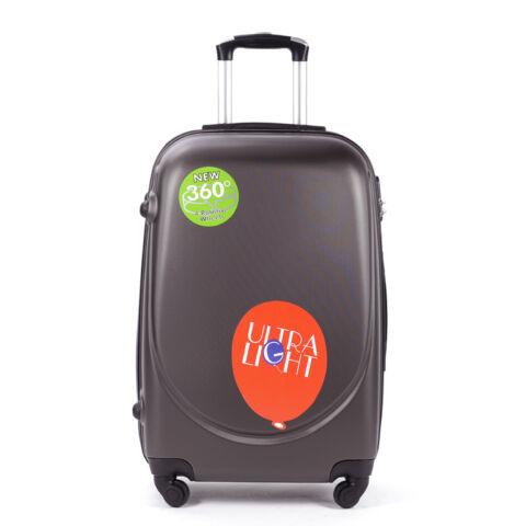 Besty kávészínű Extra Könnyű Kemény KabinBőrönd(55*36*20cm)