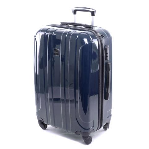 Ormi Kemény Fényes Bőrönd Kék Kicsi