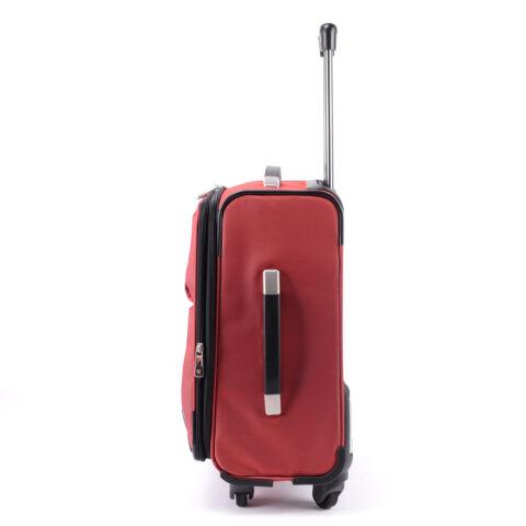 Prémium Swisswin Bordó Közepes Méretű Gurulós Bőrönd(4 Kerekű)