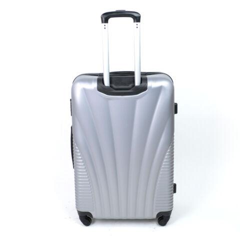 Besty Kemény Nagy Bőrönd Ezüst (4 Kerekű)