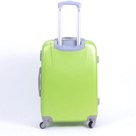 Kemény Közepes Bőrőnd Zöld (4 Kerekű)