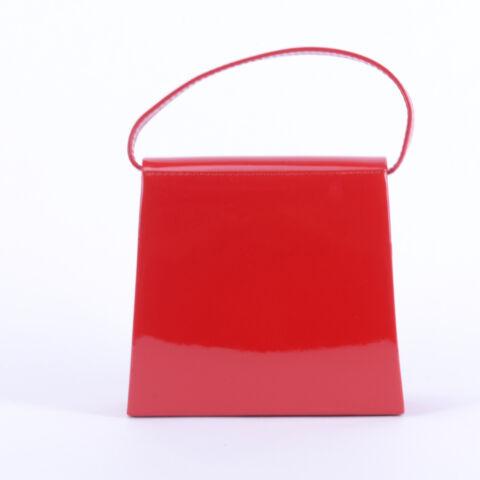 Diva Piros Lakk Kis Kézitáska